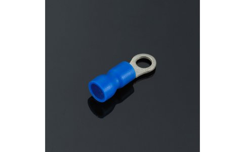Easy entry insulated ring terminal